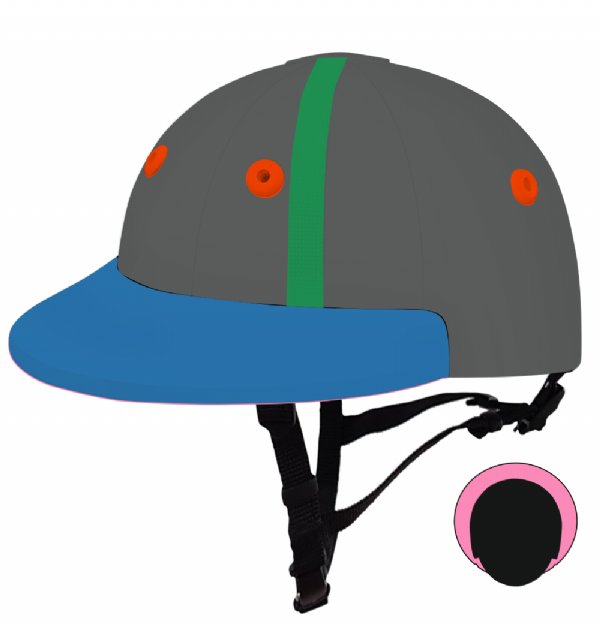 English Peak Style Helmet Polo. (x 1) (78319228-x5rn0gf4)